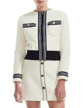boppy-cropped-tweed-jacket by maje