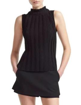 lockally-pleated-sleeveless-top by maje
