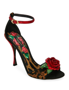 leopard-and-rose-sandals by dolce-&-gabbana