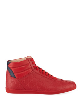mens-high-top-leather-sneakers by gucci