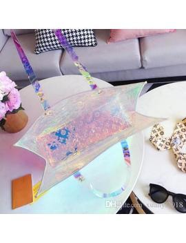 Wholesale   Fashion & Hot Design Jelly Shoulder Bag Clear Transparent Bucket Pvc Tote Handbag For Women Fashion Bags by D Hgate.Com