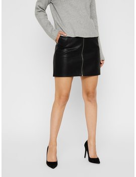 High Waist Zip Skirt by Vero Moda