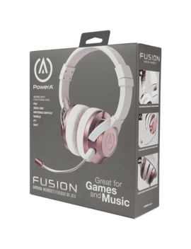 Power A Fusion Wired Gaming Headset   Rose Gold by Game