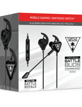 Turtle Beach Battle Buds In Ear Gaming Headset For Mobile Gaming, Nintendo Switch, Xbox One & Ps4   Black/Silver by Game