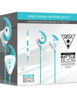 Turtle Beach Battle Buds In Ear Gaming Headset For Mobile Gaming, Nintendo Switch, Xbox One & Ps4   White/Teal by Game