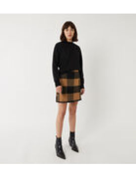 Blanket Check Pelmet Skirt by Warehouse