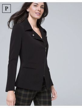 Petite Essential Moto Jacket by Whbm