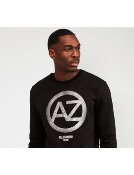 masccio-aop-infill-circle-logo-sweatshirt- -black by alessandro-zavetti