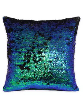 mermaid-sequin-throw-pillow-in-navy_pewter by bed-bath-and-beyond
