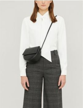 pammla-gathered-tie-neck-crepe-blouse by ted-baker