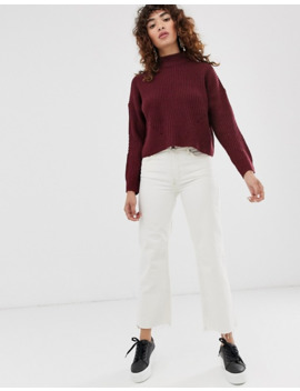 only-turtleneck-cropped-chunky-knit-sweater by onlys