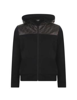 Panel Hooded Sweatshirt by Fendi