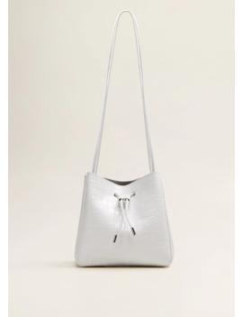 Τσάντα σάκος δέρμα by Mango