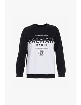 black-cotton-sweatshirt-with-balmain-logo by balmain