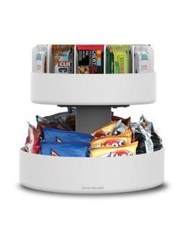 lazy-suzan-2-tiered-white-snack-organizer by mind-reader