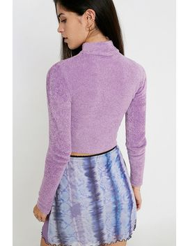 uo-easy-towelling-mock-neck-top by urban-outfitters