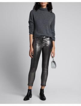 debbie-coated-metallic-high-rise-skinny-jeans by veronica-beard