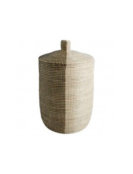 black-and-white-seagrass-laundry-basket-with-lidblack-and-white-seagrass-laundry-basket-with-lid by charmer ------------------------charmer