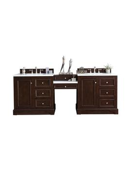 de-soto-94-in-w-double-vanity-in-burnished-mahogany-with-soild-surface-vanity-top-in-arctic-fall-with-white-basin by james-martin-vanities