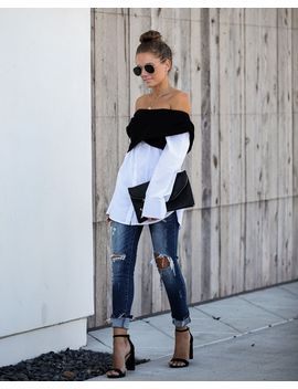 excusez-moi-off-the-shoulder-contrast-top by vici