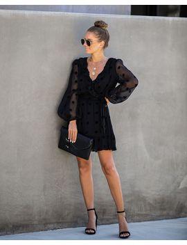 debonaire-polka-dot-ruffle-dress by vici