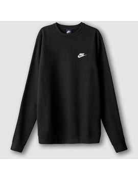 Cotton Mix Sweatshirt With Crew Neck by Nike