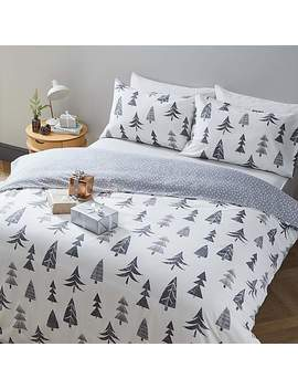 Christmas Trees Duvet Cover And Pillowcase Set by Dunelm