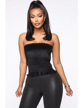 vibe-with-the-smock-top---black by fashion-nova