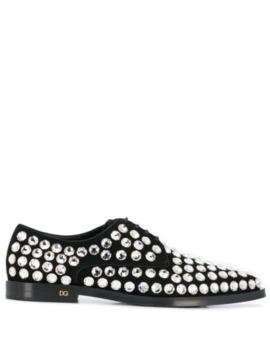 rhinestone-embellished-derby-shoes by dolce-&-gabbana