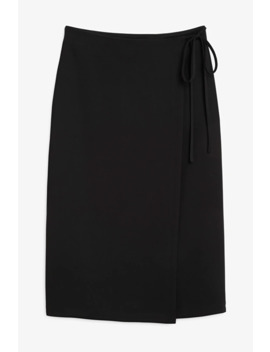 Midi Wrap Skirt by Monki