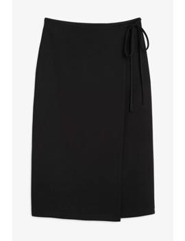 midi-wrap-skirt by monki