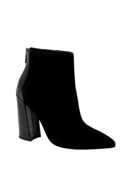 micro-pointed-toe-croc-embossed-block-bootie by charles-david