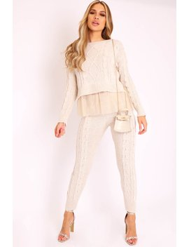 beige-mesh-insert-jumper-and-leggings-co-ord---laurie by rebellious-fashion