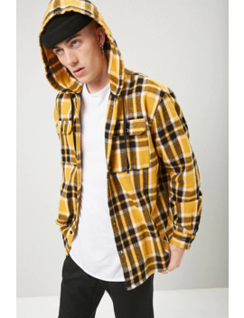 classic-hooded-flannel-plaid-shirt by forever-21