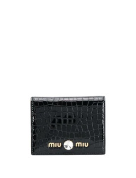 crocodile-print-wallet by miu-miu
