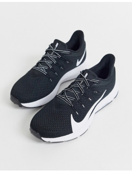 nike-running-quest-trainers-in-black-&-white by nike