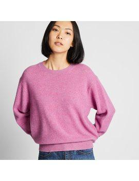 women-premium-lambswool-crew-neck-jumper-(36) by uniqlo