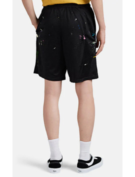 paint-splattered-mesh-shorts by gallery-department