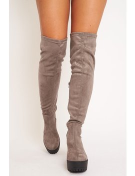 grey-suede-platform-knee-high-boots---sandy by rebellious-fashion