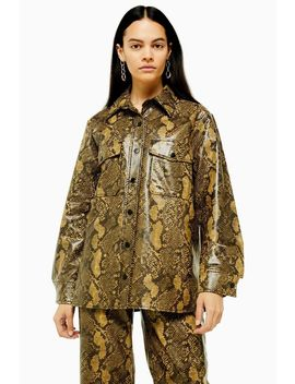 snake-faux-leather-pu-shirt by topshop