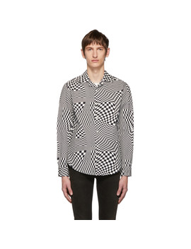 white-&-black-quantum-checkerboard-officer-shirt by phipps