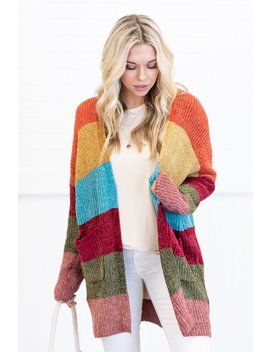 Leave Your Mark Cardigan, Orange by The Mint Julep Boutique