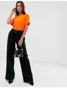 mango-wide-leg-dring-belt-trousers-in-black by mango