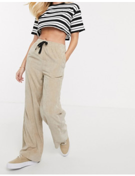 asos-design-pull-on-trouser-in-washed-cord by asos-design