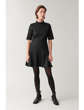 High Neck Fitted Waist Dress by Cos