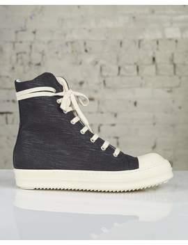 Rick Owens Drkshdw Larry Fw19 Sneakers Black Denim by Less 17