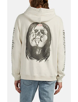 Skull Graphic Cotton Hoodie by Rt A