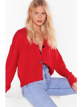over-knit-button-down-ribbed-cardigan by nasty-gal