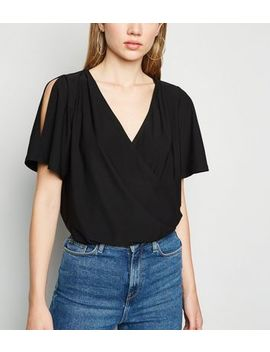 black-wrap-cold-shoulder-top by new-look