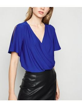 blue-wrap-cold-shoulder-top by new-look